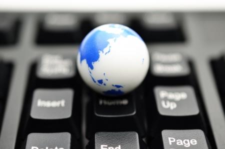 earth on keyboard photo