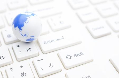 Erde auf der Tastatur
