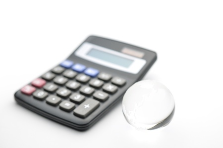 international bank account number: earth on calculator