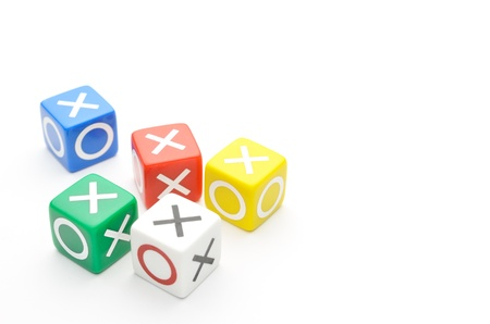 Dice with words true, false Stock Photo - 15348663