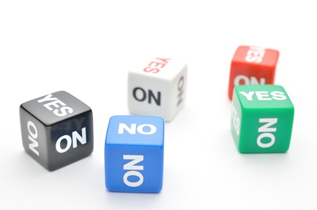 Dice with words Yes, No Stock Photo - 15348677