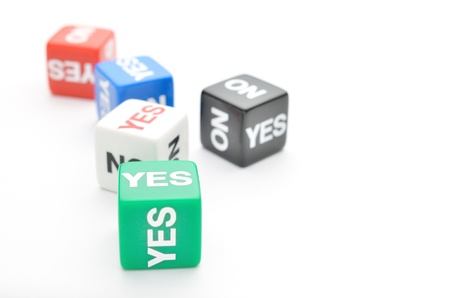 Dice with words Yes, No Stock Photo - 15465543