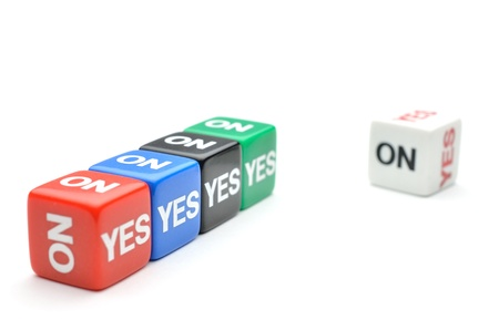 Dice with words Yes, No Stock Photo - 15348665