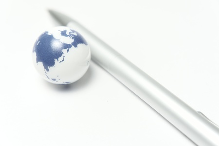 pen and earth Stock Photo - 16010758