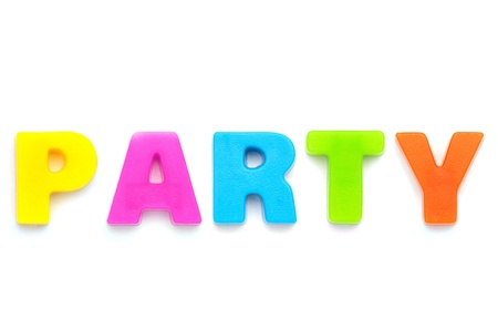 3d word: party Stock Photo