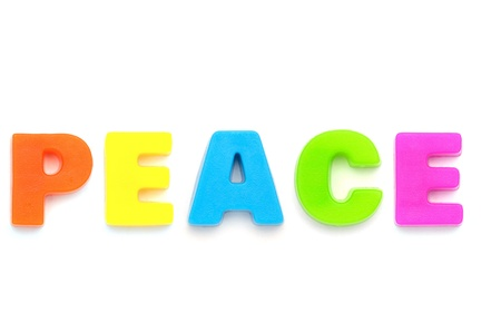 banner of peace: PEACE