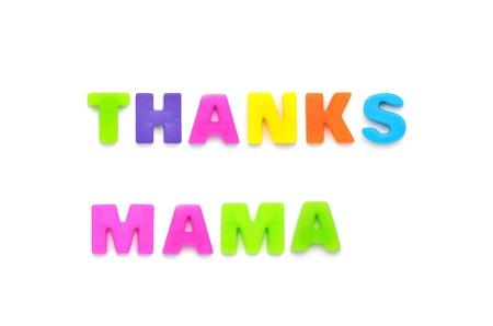 acirc: THANKS MAMA Stock Photo