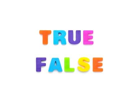 false: true false