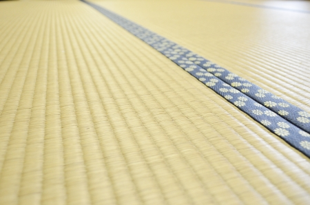 straw mat: tatami Stock Photo
