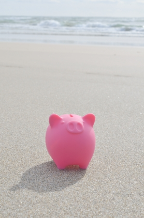 ビーチで貯金