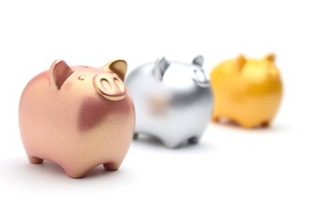 piggy bank isolated on white background Stock Photo