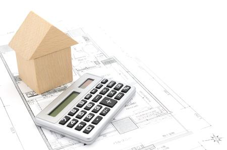 モデルハウスと電卓建設を計画します。