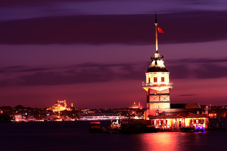 nightview: this is one of the most famouse restaurant in istanbul. it is like an island.