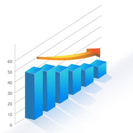 Sales Bar Chart Statistic diagram falling down illustration
