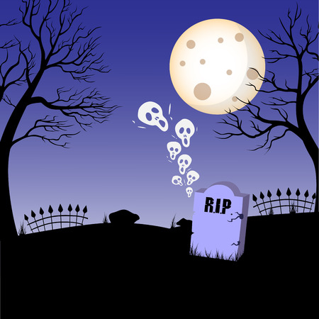 rest in peace: Tomb, tombstone, rest in peace icon on halloween theme