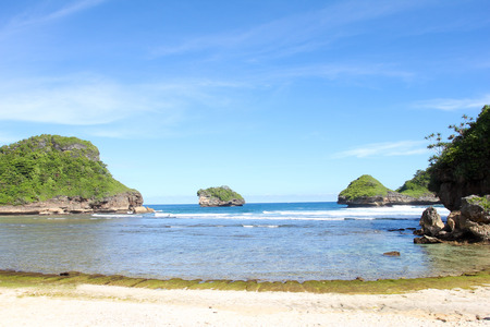 Goa China Beach in Malang, East Java, Indonesia - nature vacation background