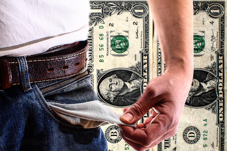 Poverty - unemployment - credit trap - indebtedness Stock Photo