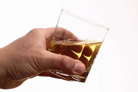 Alcohol addiction - Social problem - Alcoholism - drink glass Stock Photo