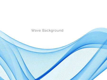 Blue wave stylish dymanic background vector