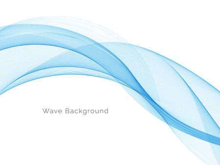 Blue wave concept background illustration vector