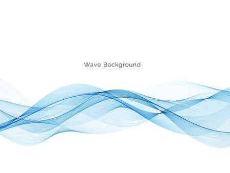 Blue wave modern stylish background vector Ilustração