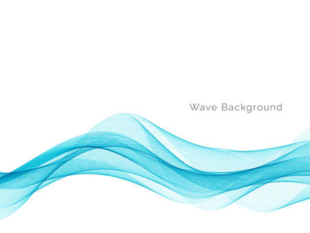 Modern Blue wave design background vector