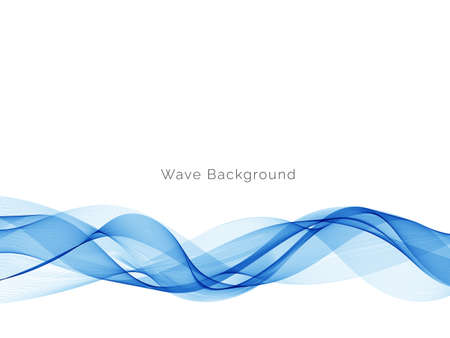 Blue wave stylish dymanic background vector