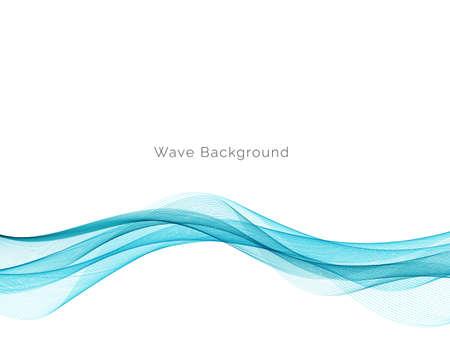 Modern Blue wave design background vector Ilustração Vetorial