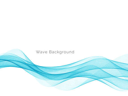 Blue wave concept background illustration vector Ilustração