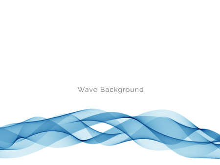 Blue wave design abstract background vector