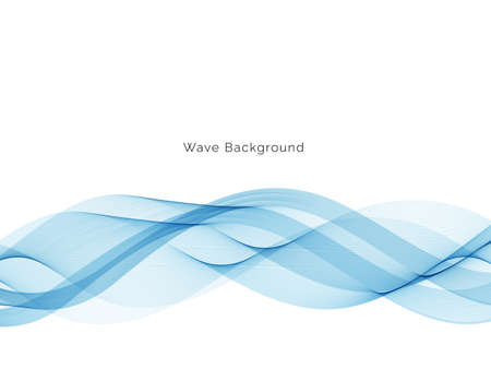 Abstract blue wave background vector Ilustração