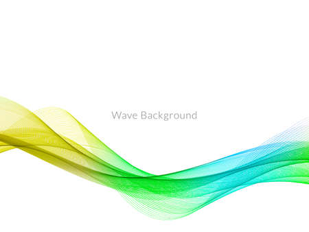 Smooth stylish colorful wave background vector Vector Illustratie