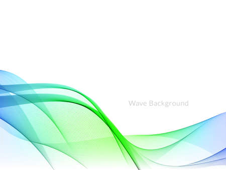 Smooth stylish colorful wave background vector