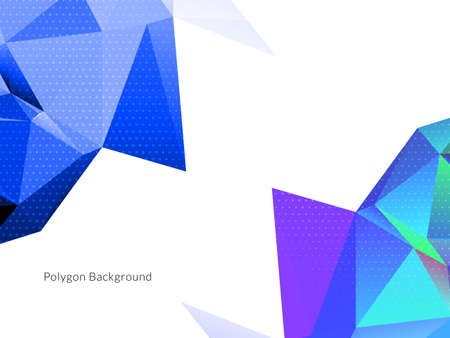 Abstract polygonal triangles colorful background vector