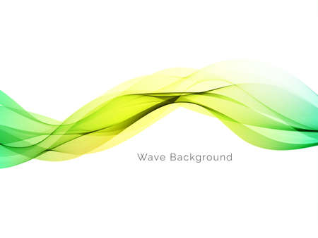 Colorful dynamic wave design stylish background vector