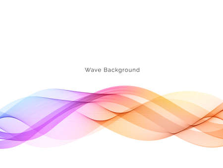 Colorful wave design modern background vector
