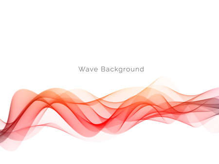 Colorful smoke wave design modern background vector Ilustração