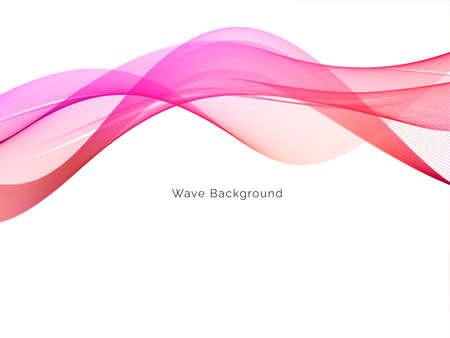 Colorful smoke wave design modern background vector