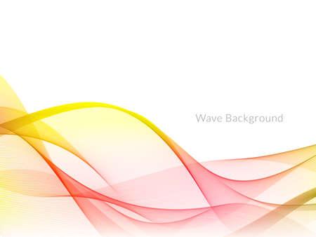 Smooth stylish colorful wave background vector Reklamní fotografie