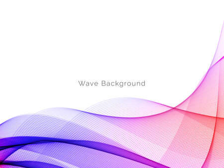 Abstract background with colorful flowing wave design vector