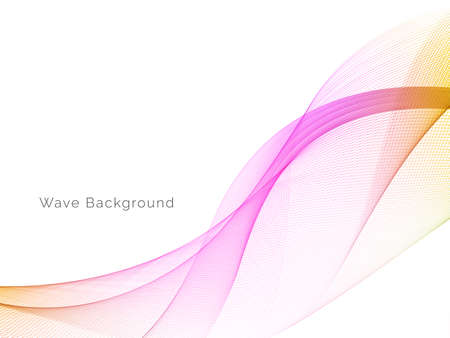 Decorative background with colorful wave design vector