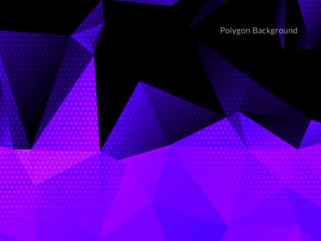 Decorative background with colorful polygon shapes vector