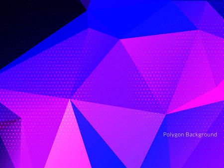 Modern colorful geometric polygon background vector Ilustracja