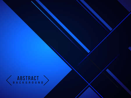 Abstract gradient geometric blue modern background pattern vector Ilustracja