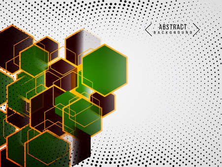 Geometric abstract modern green design poly background vector