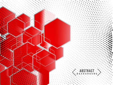 Modern Abstract geometric red polygonal shapes background vector Ilustracja