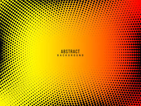 Modern Abstract yellow grunge halftone background vector