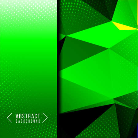 Abstract geometric smooth stylish green background design vector Ilustracja