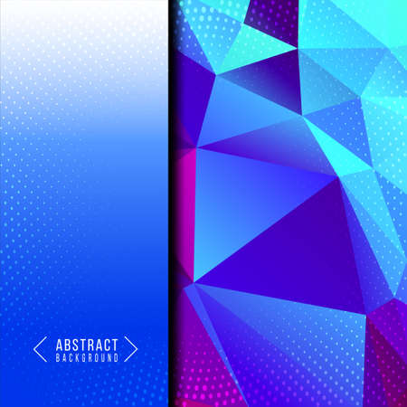 Blue abstract geometric low poly stylish design background vector Ilustracja