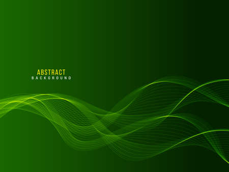 Modern Green abstract stylish transparent wave design background vector Ilustracja